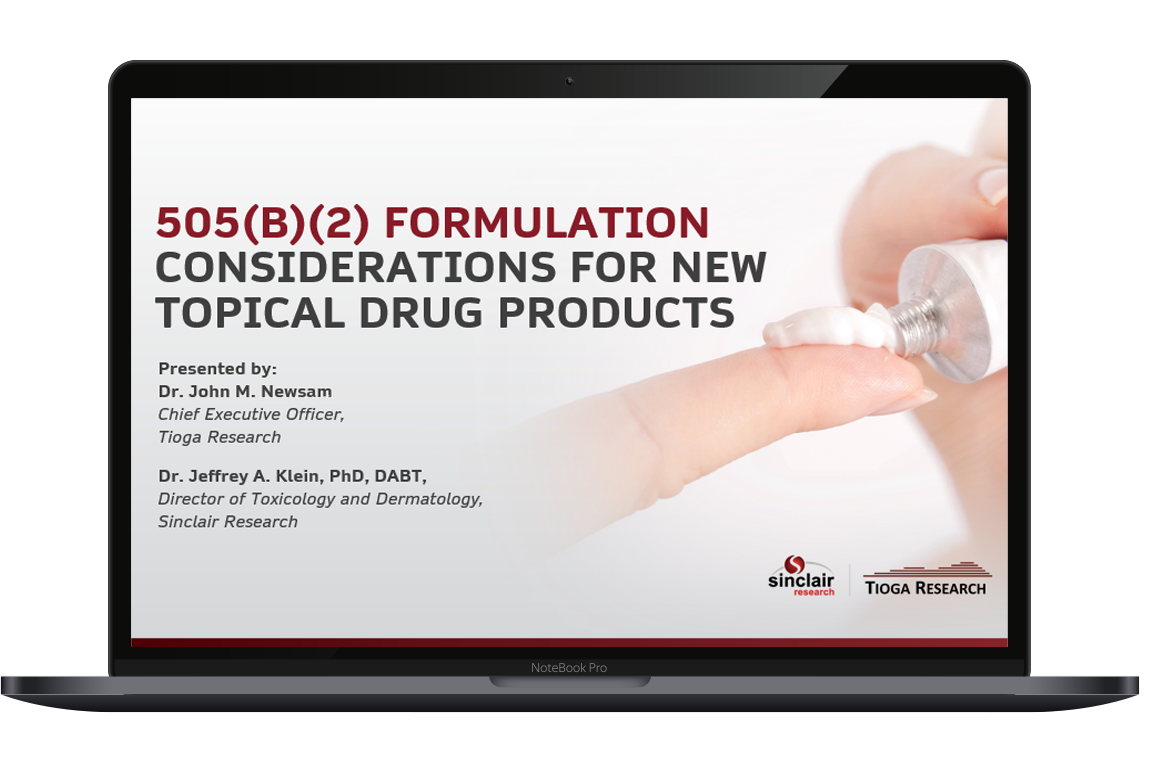 505(b)(2) Formulation Considerations for New Topical Drug Products Laptop
