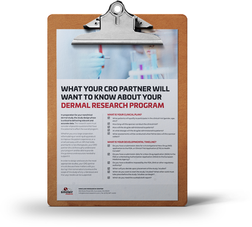 What Will Your CRO Partner Want To Know About Your Dermal Research Program?