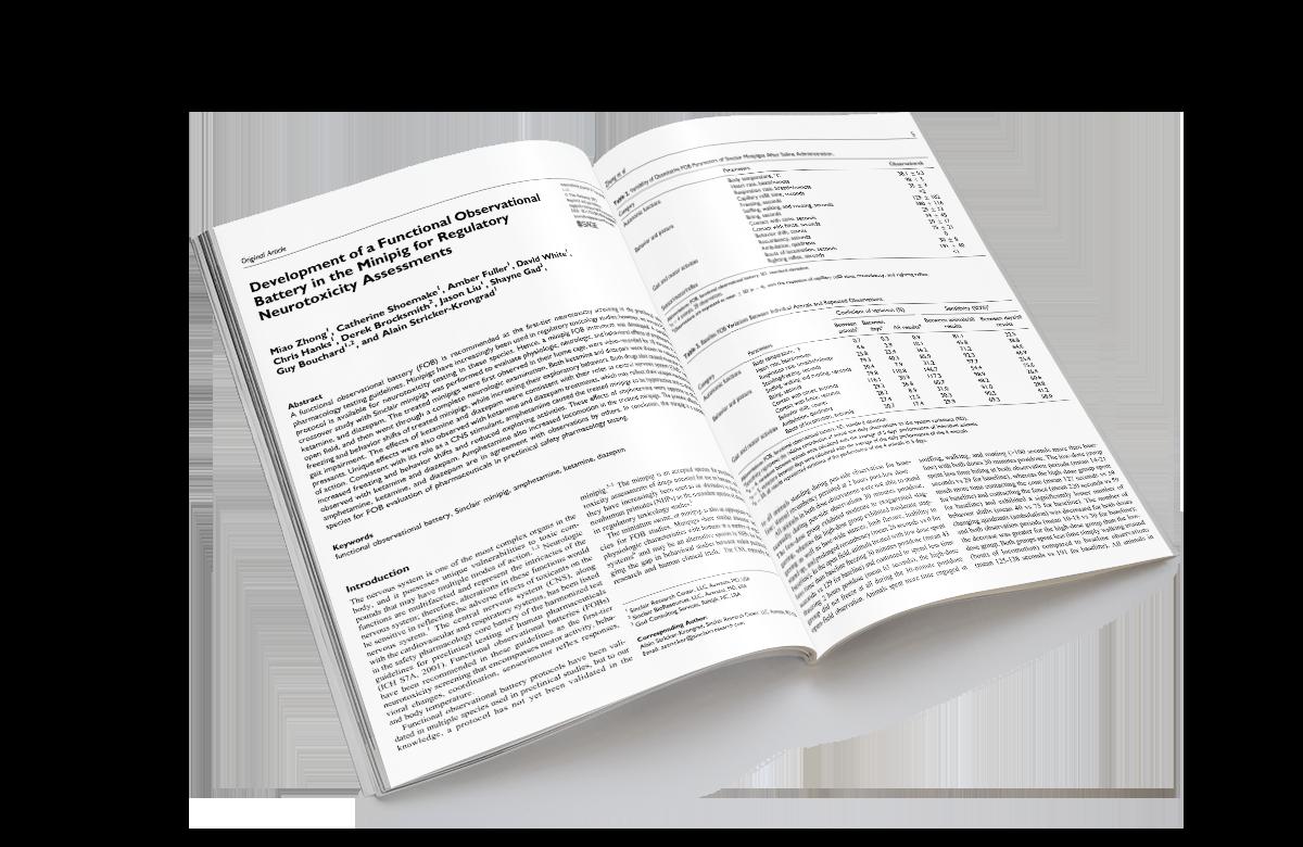 Development of a Functional Observational Battery in the Minipig for Regulatory Neurotoxicity Assessments