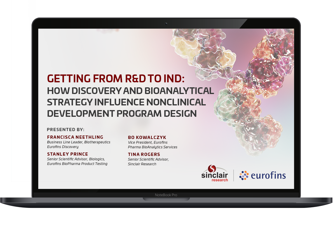 Getting from R&D to IND