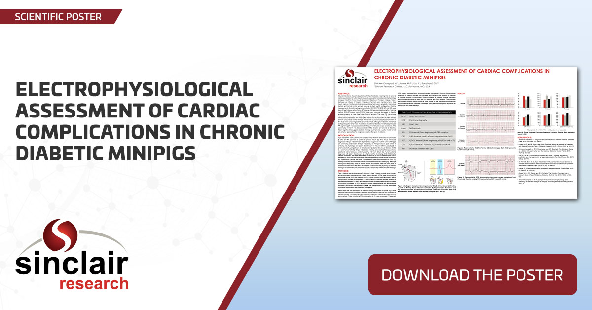 Electrophysiological Assessment of Cardiac Complications in Chronic Diabetic Minipigs - SciPos103